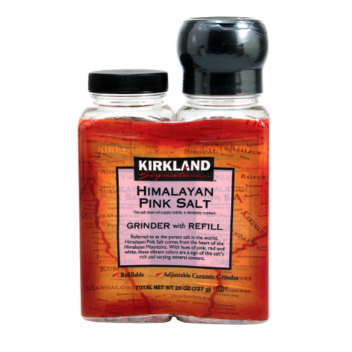 Kirkland Signature Himalayan Pink Salt, Grinder with Refill, 26 oz