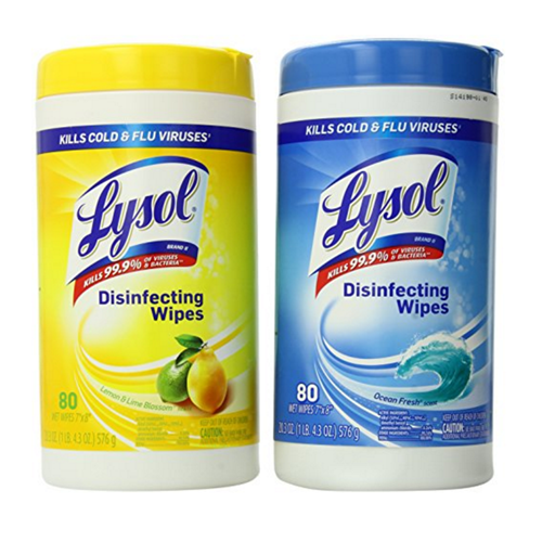 Lysol 174 Disinfecting Wipes Lemon Amp Fresh Scents 80 Wipes